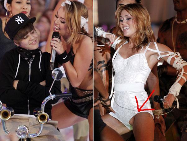 Miley Cyrus Mostra Um Pedacinho De Suas Partes   Ntimas Em Um Show